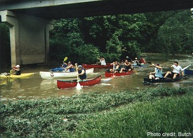 Start of the 1998 1st Annual Terrapin Creek Canoe & Kayak Race.